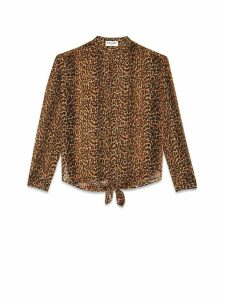 Saint Laurent Saint Laurenmt Leopard Print Shirt