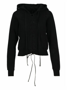 Unravel Lace-up Cropped Hoodie