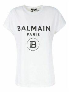 Balmain Short-sleeve Logo Print T-shirt
