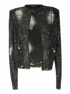 Balmain Embellished Open Cardigan