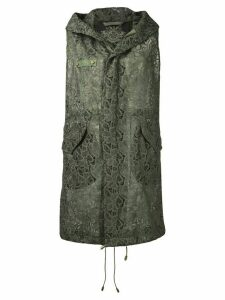 Mr & Mrs Italy hooded lace gilet - Green