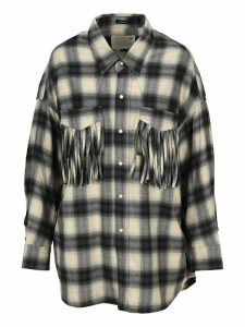 R13 Oversized Plaid Shirt