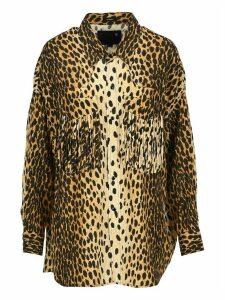 R13 Oversized Leopard-print Shirt