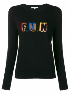 Chinti and Parker slogan fitted sweater - Black