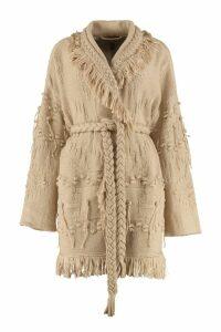 Alanui Cotton Tricot Knit Cardigan