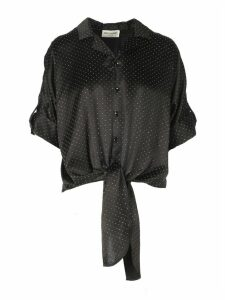 Saint Laurent Satin Cloute Studs Shirt