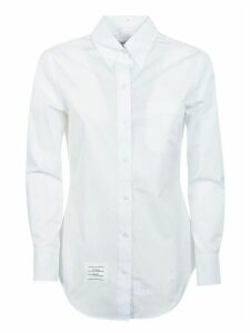 Thom Browne Classic Long Sleeve Button Down Point Collar Shirt