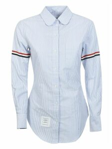 Thom Browne Classic Long Sleeve Round Collar Shirt
