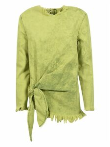 MarquesAlmeida Fringed Tied Detail Top