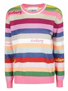 Iceberg Striped Logo Sweatshirt