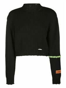 HERON PRESTON Black Cotton Jumper