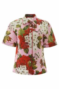 Dolce & Gabbana Geranium Print Shirt