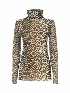 Ganni Leopard Top