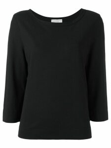 Zanone three-quarters sleeve T-shirt - Black