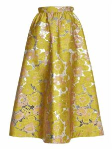 MSGM Yellow Floreal Skirt