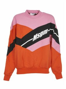 MSGM Color-block Sweatshirt