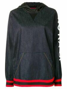 No Ka' Oi printed sleeve hoodie - Blue