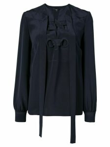 Derek Lam Sarah Lace-Up Blouse - Black