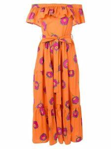 La Doublej off-shoulder print dress - Yellow