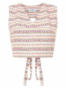 Olympiah printed Papa cropped top - PINK