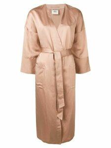 Semicouture Oliva kimono - Brown