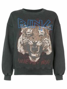 ANINE BING logo tiger print sweatshirt - Black