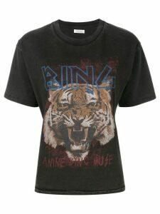 ANINE BING Tiger print T-shirt - Black