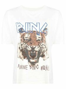 ANINE BING tiger T-shirt - White