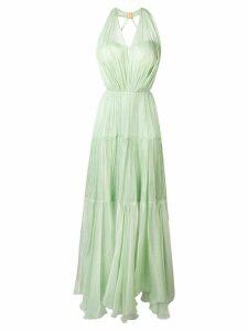 Maria Lucia Hohan Poppy pleated maxi dress - Green