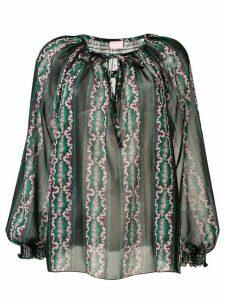 Giamba printed peasant blouse - Black