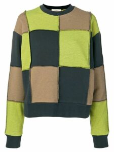 Ports 1961 square knit jumper - Green