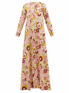 Dodo Bar Or - Nilli Floral-print Cotton Maxi Dress - Womens - Pink Print