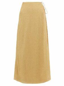 Oséree - Lumière Lamé Wrap Skirt - Womens - Gold