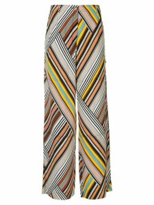 Tory Burch mixed stripe trousers - Multicolour