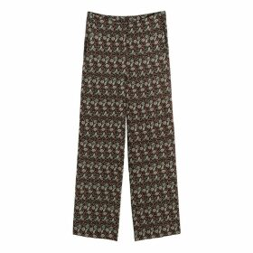 Wide Leg Trousers in Paisley Print, Length 27