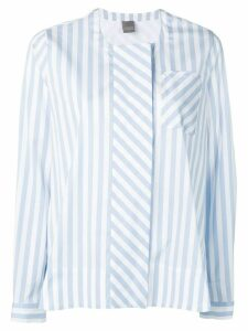 Lorena Antoniazzi striped flared shirt - Blue