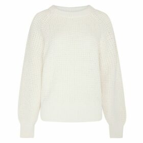 Cotton Jumper in Chunky Openwork Knit