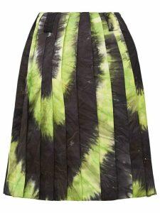 Prada tie-dye pleated skirt - Black
