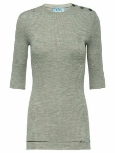 Prada ribbed knit top - Grey