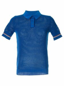 Tory Burch mesh knitted polo - Blue