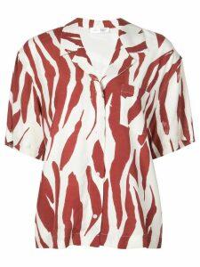 ANINE BING zebra print shirt - Red