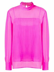 Emilio Pucci high-neck silk top - PINK