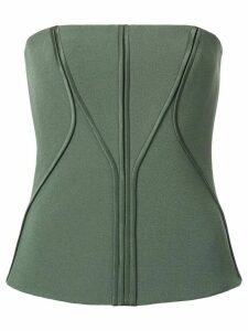 Dion Lee annex bustier top - Green