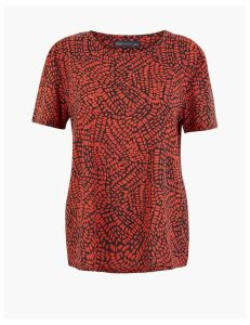 M&S Collection Printed Relaxed Fit T-Shirt