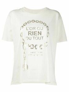 ANINE BING Ringo gold print T-shirt - NEUTRALS