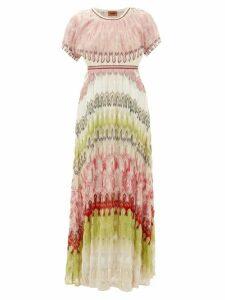 Missoni - Metallic-knit Maxi Dress - Womens - Green Multi