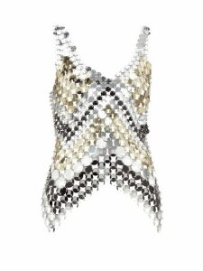 Paco Rabanne - Chainmail Top - Womens - Silver