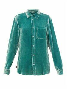 Sies Marjan - Sander Corduroy-velvet Shirt - Womens - Green