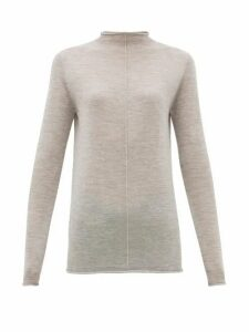 Jil Sander - High-neck Cashmere Sweater - Womens - Grey