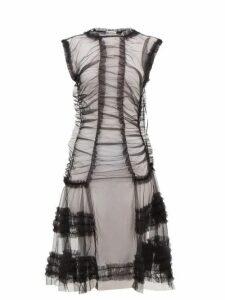 Molly Goddard - Moss Sheer Ruffled Tulle Dress - Womens - Black